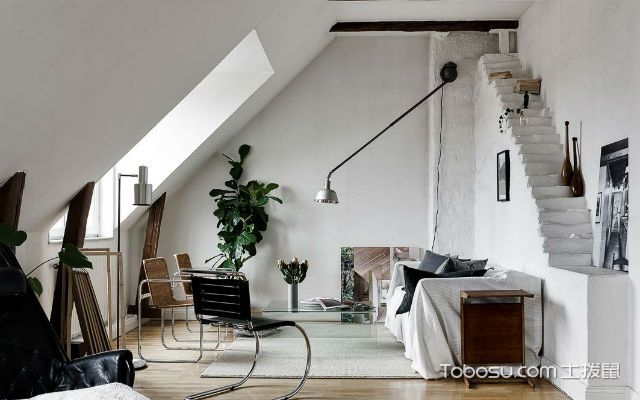 斜顶阁楼装修布置原则之色彩选择