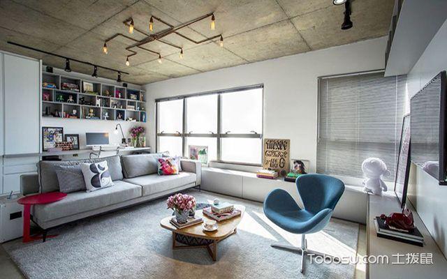 现代工业风装修风格之客厅