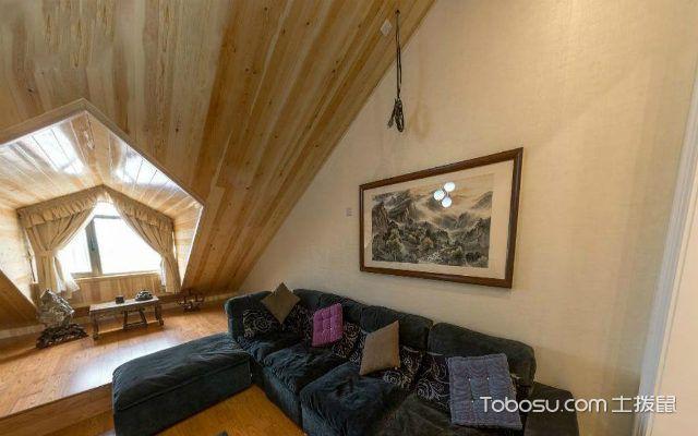斜顶阁楼装修布置原则之家具摆放