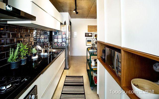 现代工业风装修风格之厨房