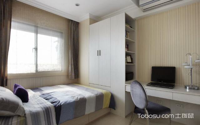 74平米小户型卧室怎么布置好看之镜子
