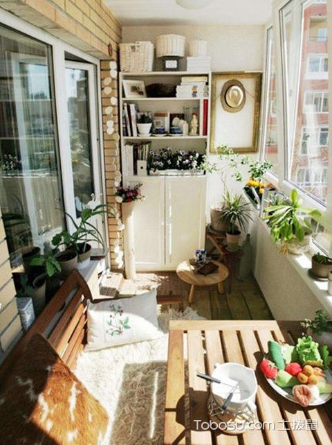 长方形阳台如何设计,长方形阳台设计技巧之花园