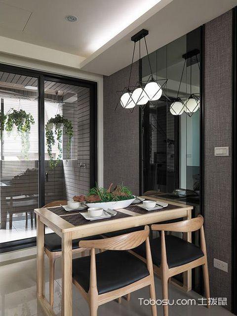 杭州小户型66平单身公寓简约装修图餐厅设计