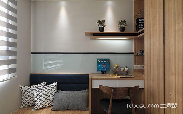 杭州小户型66平单身公寓简约装修图次卧设计