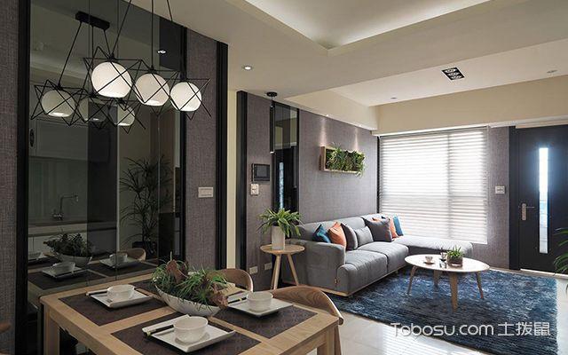 杭州小户型66平单身公寓简约装修图餐厅