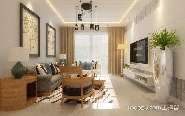 木色简约风格装修效果图客厅