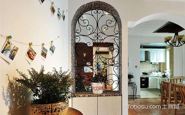 玄关隔断雕花装修设计图之地中海风格