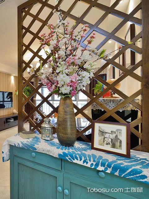 玄关隔断雕花装修设计图之美式风格
