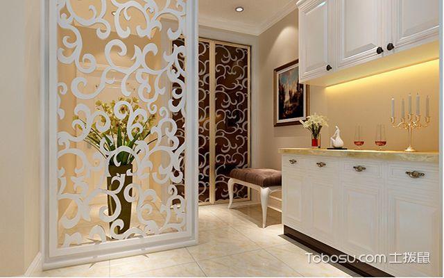 玄关隔断雕花装修设计图之欧式风格