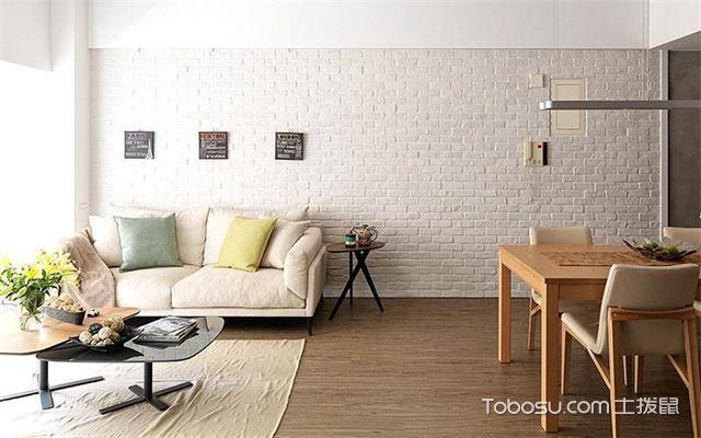 北欧风格文化墙砖效果图之沙发墙