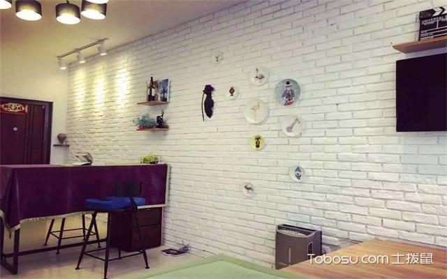 北欧风格文化墙砖效果图之餐厅
