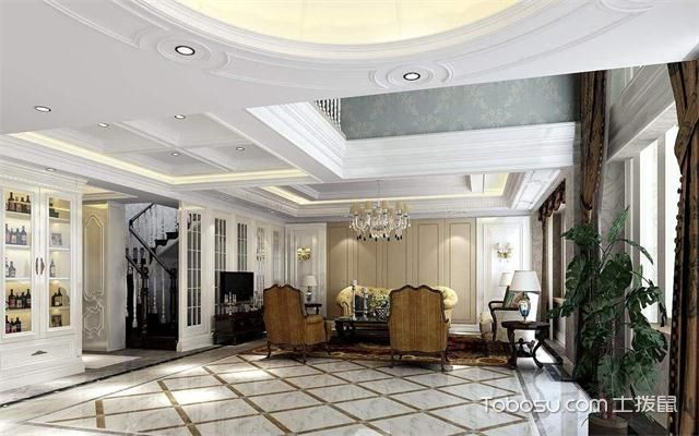 大户型客厅地砖拼花装修流程之客厅