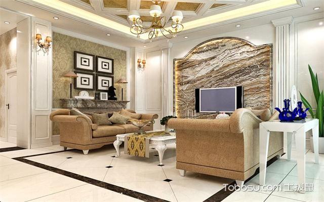 大户型客厅地砖拼花装修流程之客厅地砖
