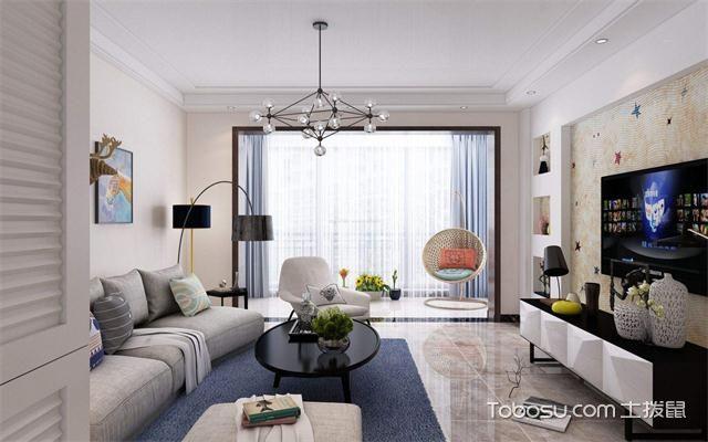 小户型客厅装修黄金比例之沙发墙
