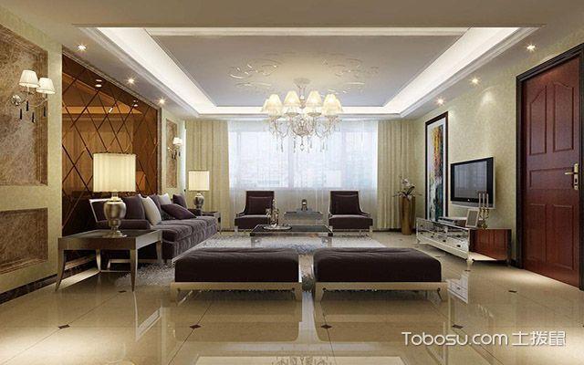 2017年大户型客厅壁灯装修效果图 欧式
