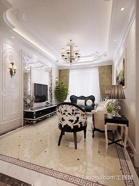 2017年大户型客厅壁灯装修效果图 混搭