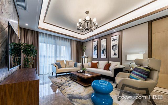 新中式吊灯装修设计图之大客厅