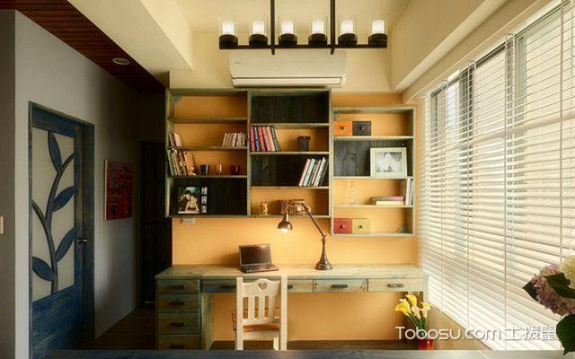 86平一室一厅装修图片书房