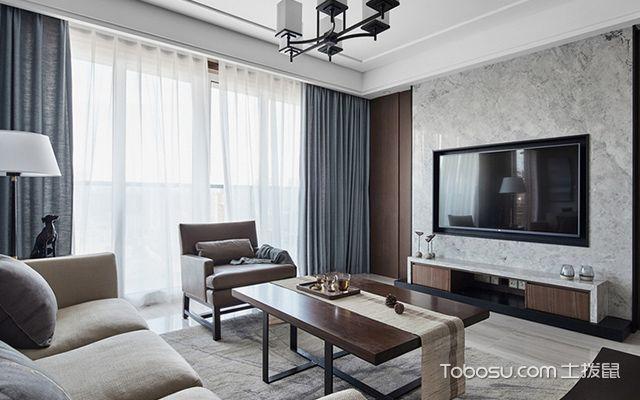 南宁135平中式现代四居装修案例客厅