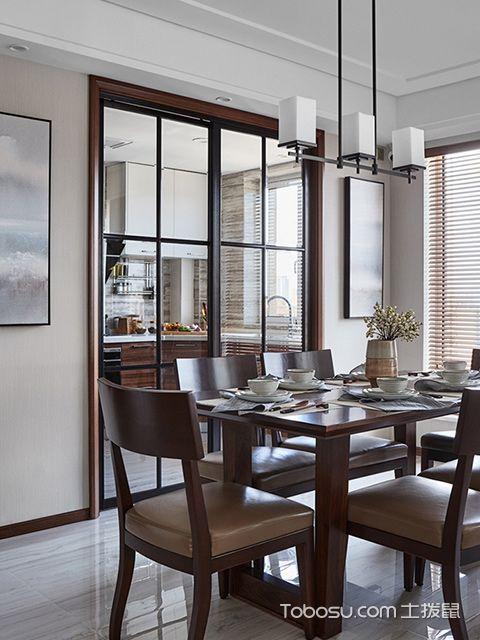 南宁135平中式现代四居装修案例餐厅
