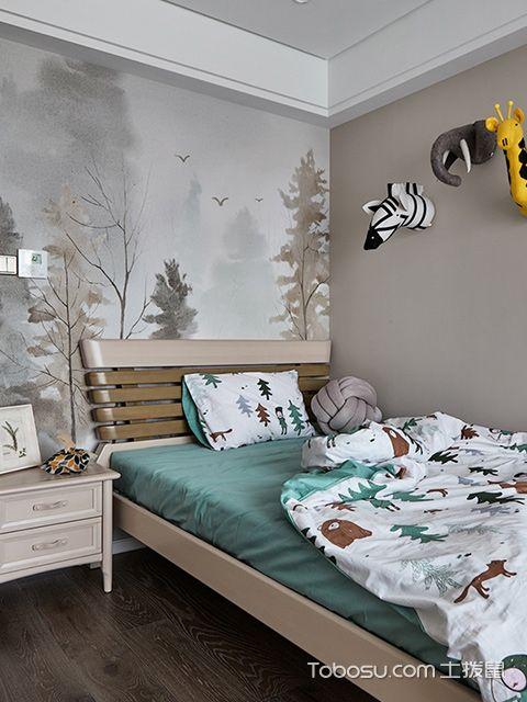 南宁135平中式现代四居装修案例儿童房