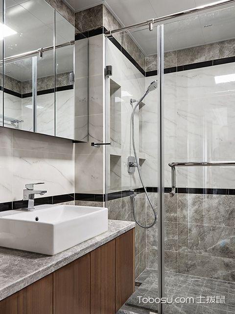 南宁135平中式现代四居装修案例卫生间