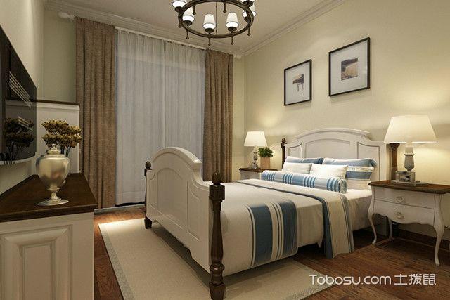卧室清新简约风格装修欧式中性