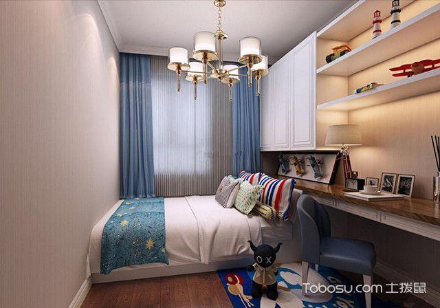 卧室清新简约风格装修蔚蓝淡雅
