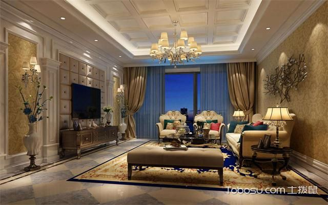 最新欧式客厅主题墙装修效果图客厅
