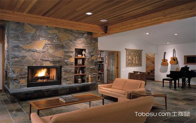 最新欧式客厅主题墙装修效果图壁炉