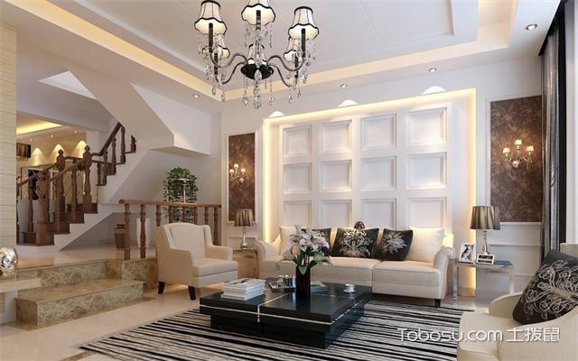 最新欧式客厅主题墙装修效果图简约