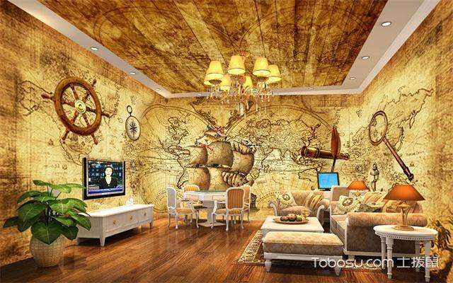 最新欧式客厅主题墙装修效果图色彩