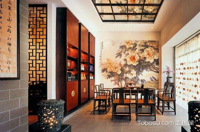 最新小户型中式家庭茶室装修设计之茶桌