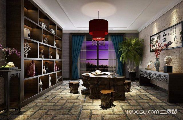 最新小户型中式家庭茶室装修设计之博古架