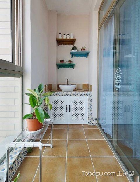 2017最新生活阳台装修设计之洗漱区