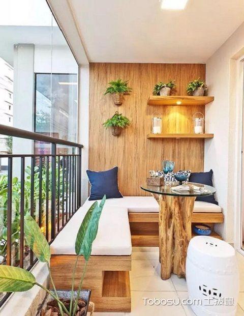2017最新生活阳台装修设计之茶室