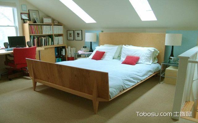 低矮斜顶阁楼装修设计图之色彩搭配