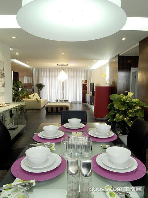 餐厅客厅开放设计效果图 现代