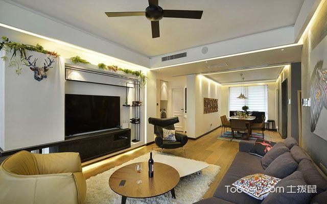 135平米三室两厅装修设计方案 客厅
