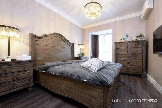 郑州89平美式装修效果图卧室