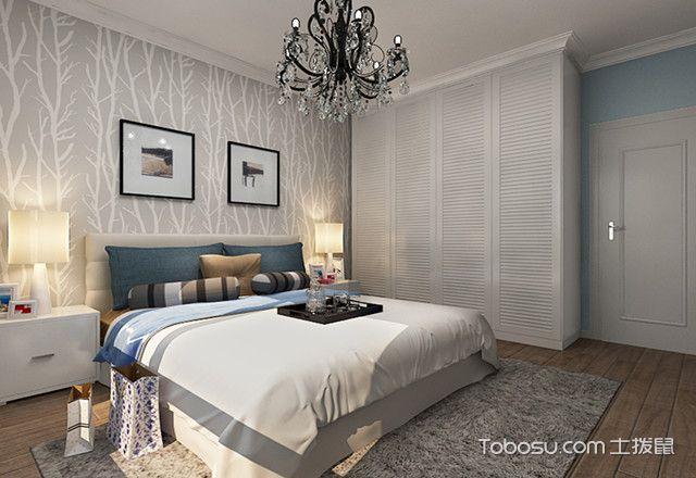 北欧小清新小夫妻卧室装修效果图