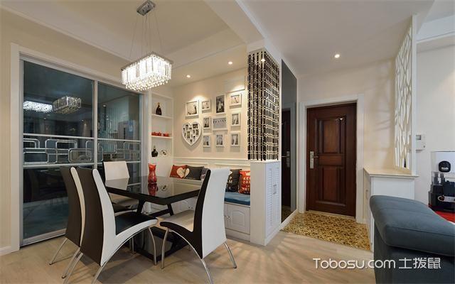 东莞100平米两室一厅新房装修价格之餐厅