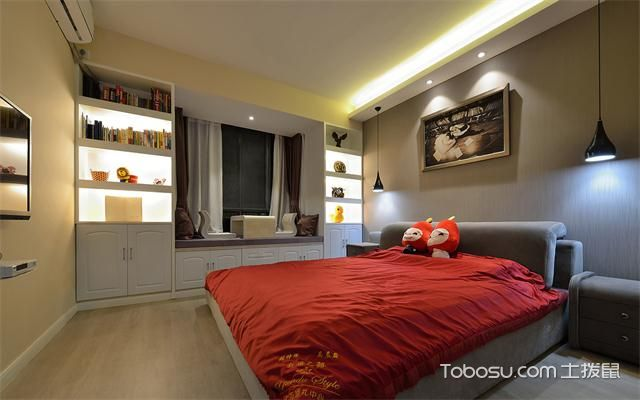 东莞100平米两室一厅新房装修价格之主卧