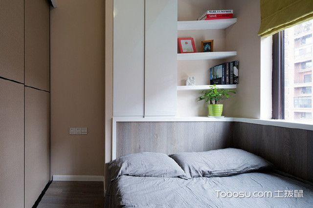 小三房简约装修效果图次卧
