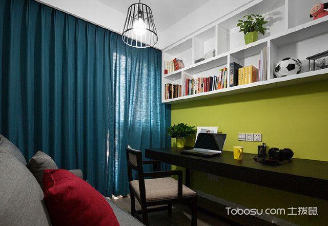 小三房简约装修效果图书房