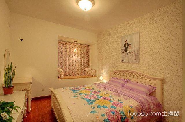 104平三室一厅装修主卧