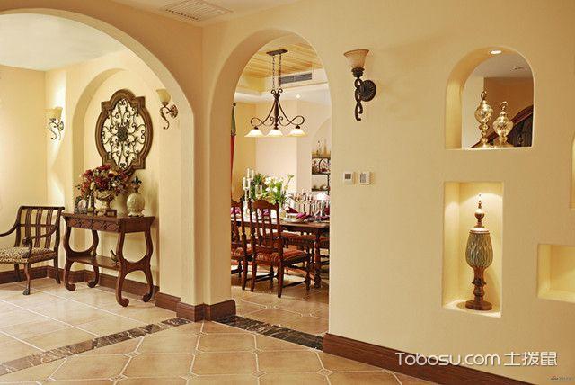 室内拱形门效果图美式风格