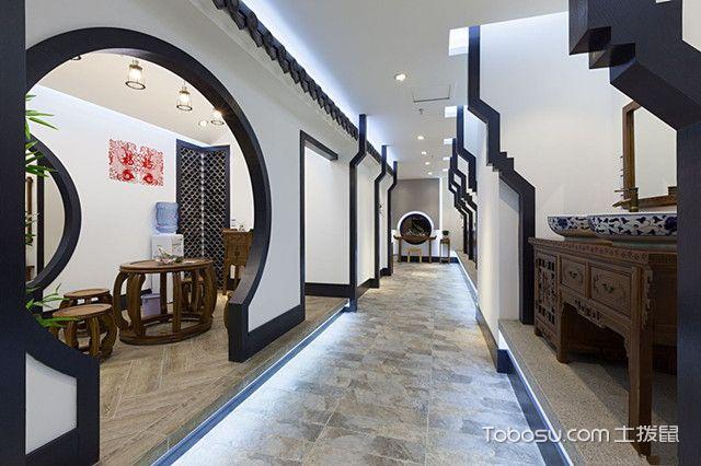 室内拱形门效果图中式风格