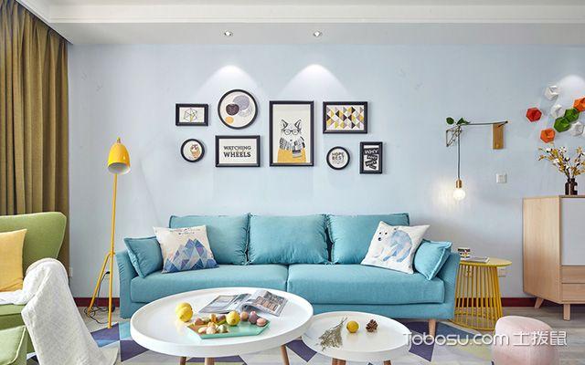 扬州80平米简约两居装修效果图客厅