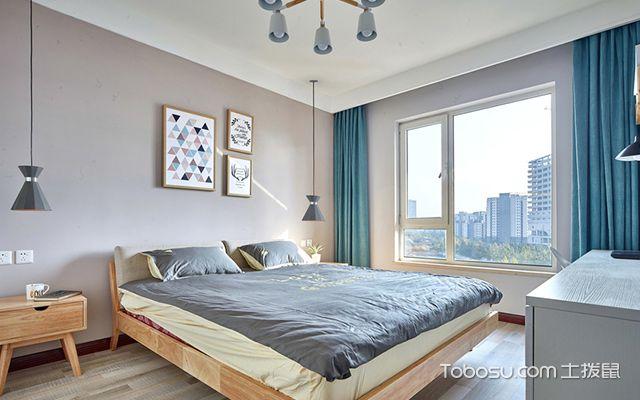 扬州80平米简约两居装修效果图卧室